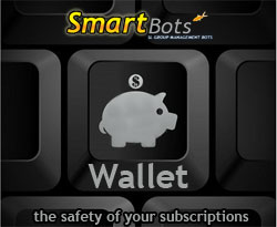 Wallet: the safety of your SmartBots subscriptions