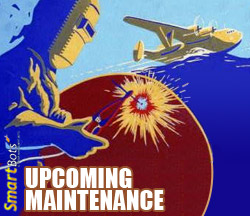 Unscheduled maintenance notification