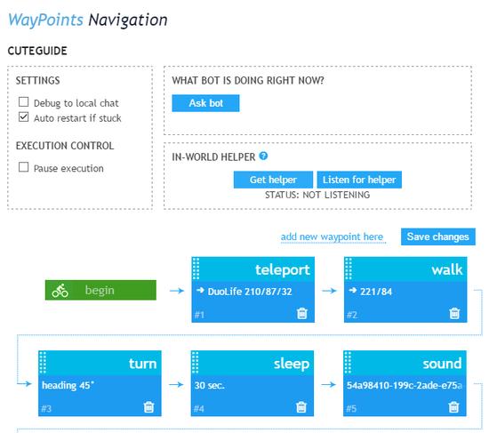 New waypoints interface