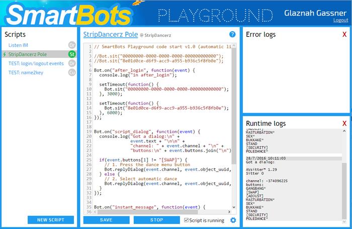 SmartBots Bots Playground - SmartBots Developers Docs